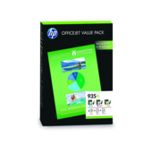 Cartridge HP 935XL, HP F6U78AE, Value Pack + 75 listů A4 - oryginalny (3x Kolor)