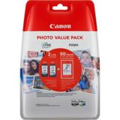 Cartridge Canon PG-545XL + CL-546XL + 50 x Photo Paper GP-501, 8286B006 - oryginalny (Multipack Czarny/Kolor)