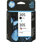 Cartridge HP 305 2-Pack Tri-color/­Black, HP 6ZD17AE - oryginalny (Multipack Czarny/Kolor)